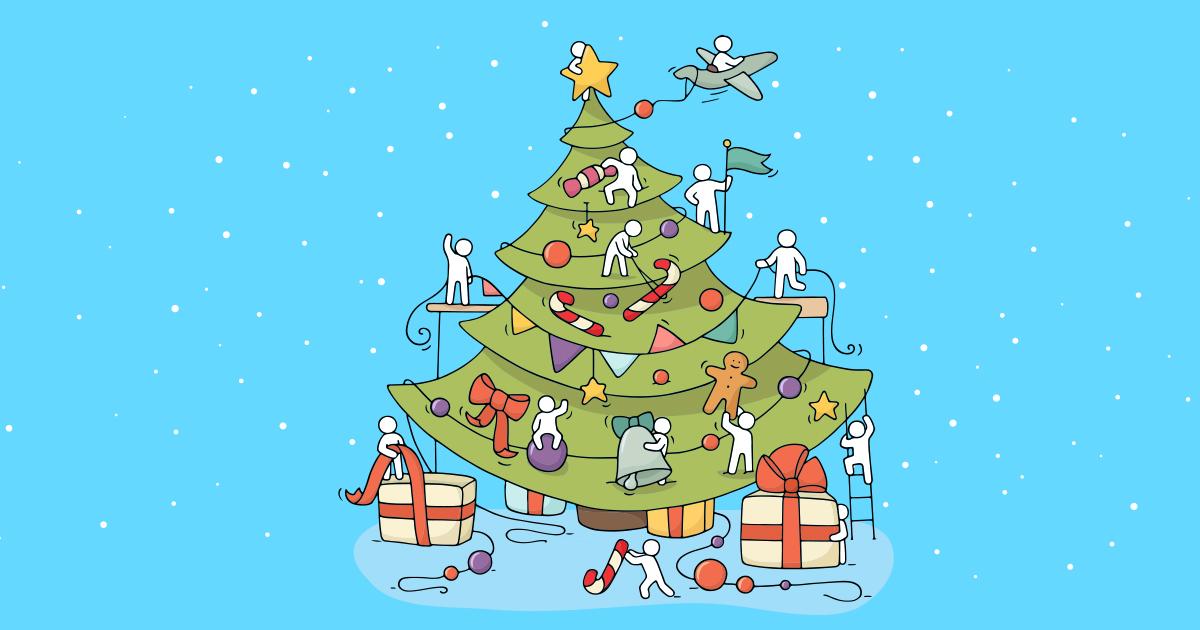 Et dekorert juletre